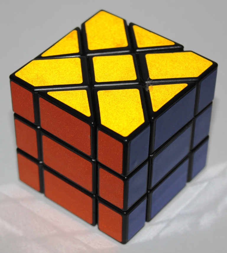 The Fisher Cube aligns 90° turning axes with axes of 180° rotational symmetry.