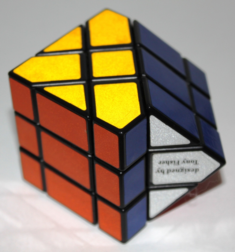 Fisher Cube, one side turned 90° — a move symmetric on the core but not on the shell.